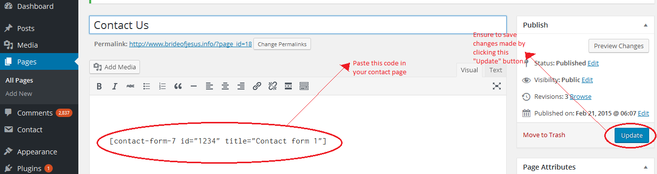 Contact Form 7 Plugged In